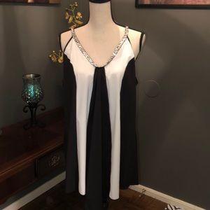Super cute black & white stripe dress.